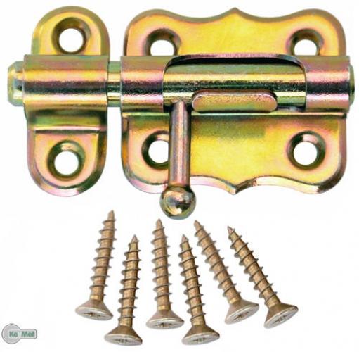 100 Gerollte Scharniere 50 x 43 mm Halbbreite Möbelscharniere Gelb Verzinkt